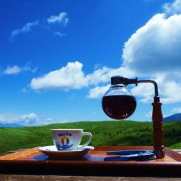 霧ヶ峰高原 霧ヶ峰で朝食を